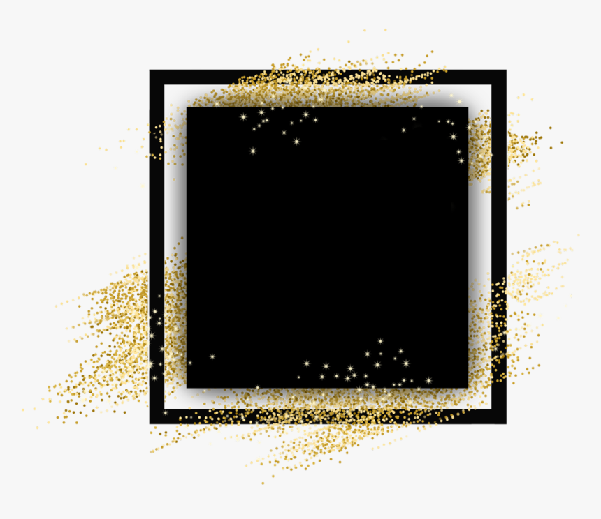 #square #gold #border #glitter #geometric #colorful - Symmetry, HD Png Download, Free Download