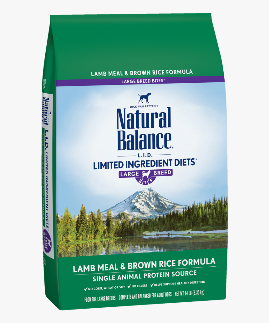 Limited Ingredient Diets® Lamb Meal & Brown Rice Large - Natural Balance Large Breed Lamb, HD Png Download, Free Download