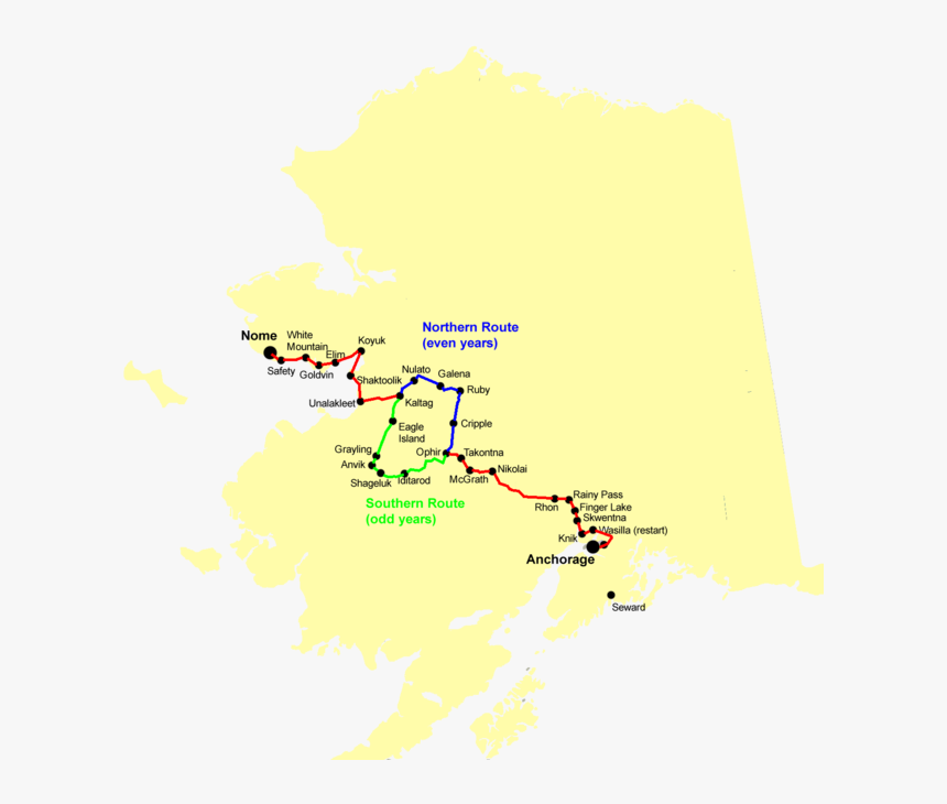 Iditarod Route, HD Png Download, Free Download