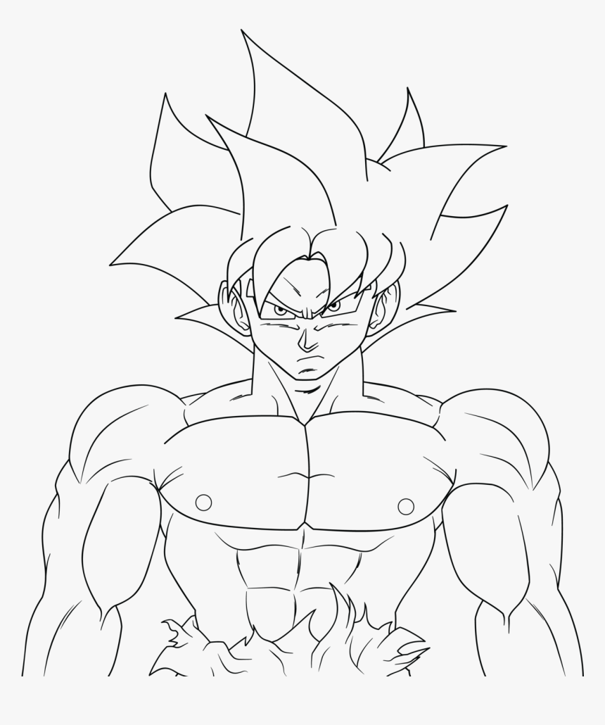 Coloring and Drawing: Full Body Goku Ultra Instinct ...