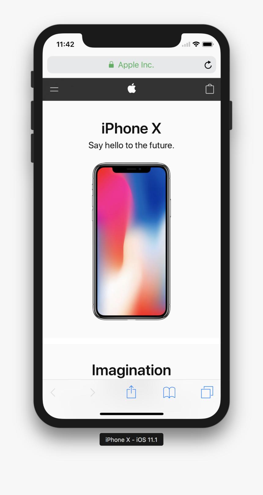 Transparent Iphone X Safari, HD Png Download   kindpng