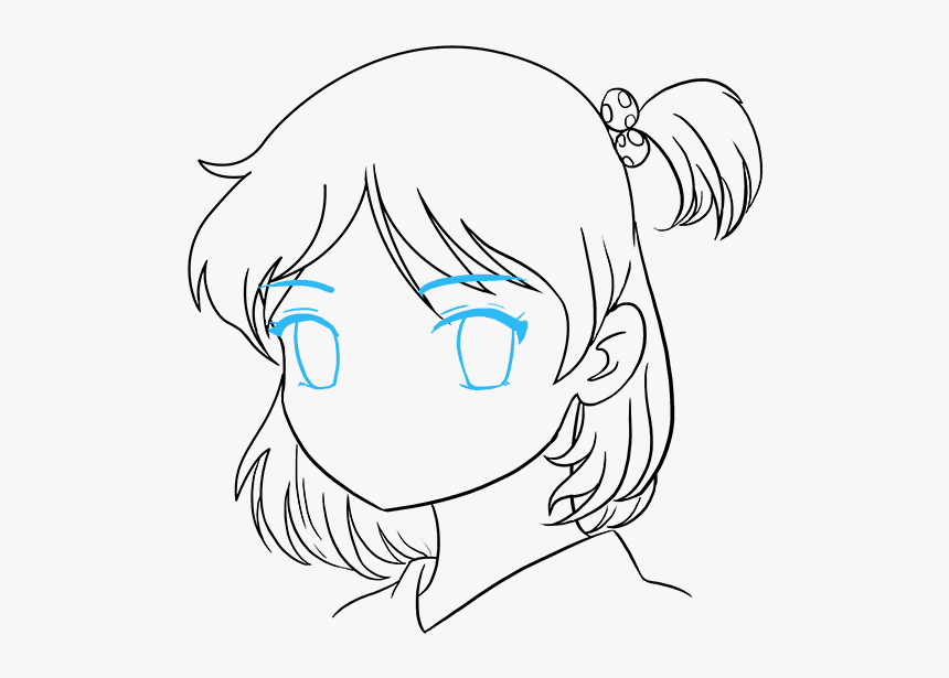 Girl Cartoons To Draw Anime Girl Face Drawing Easy Hd Png