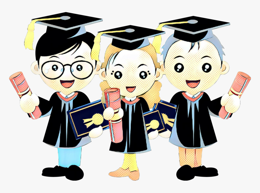 Drawing Graduation Ceremony Cartoon Portable Network - Graduation Cartoon Png, Transparent Png, Free Download