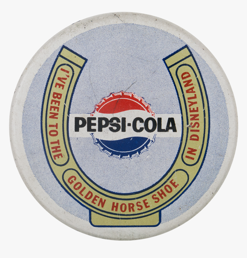 Pepsi Cola Golden Horse Shoe Event Button Museum - Pepsi, HD Png Download, Free Download