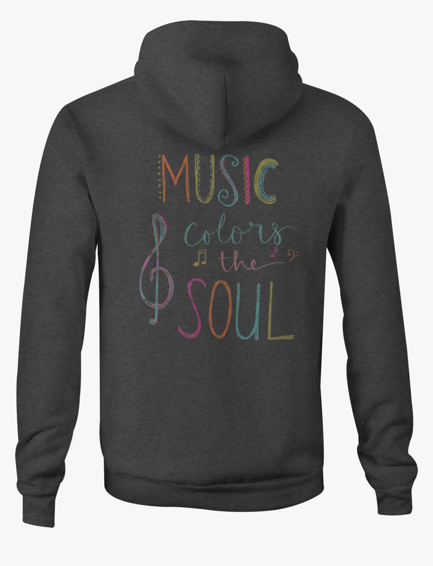 Zip Up Hoodie Music Colors The Soul Notes Hooded Sweatshirt - Hoodie, HD Png Download, Free Download