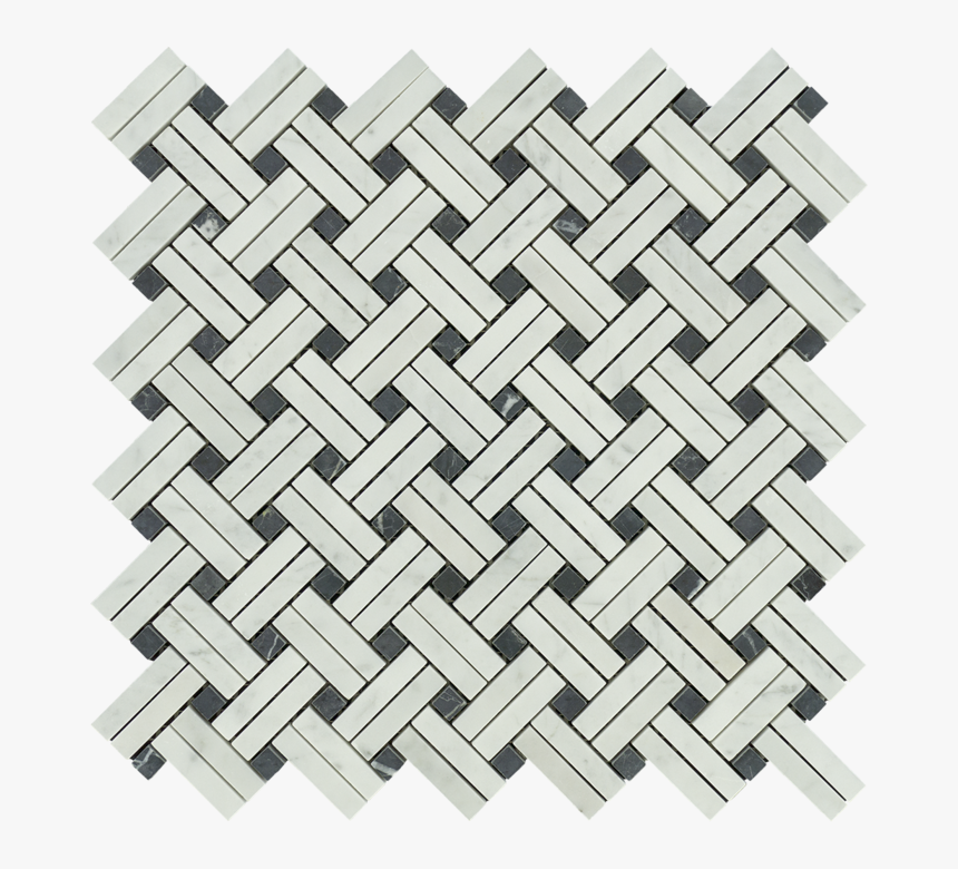 White Carrara Marble Mosaic - Black And White Marble Mosaic Tile Depot, HD Png Download, Free Download