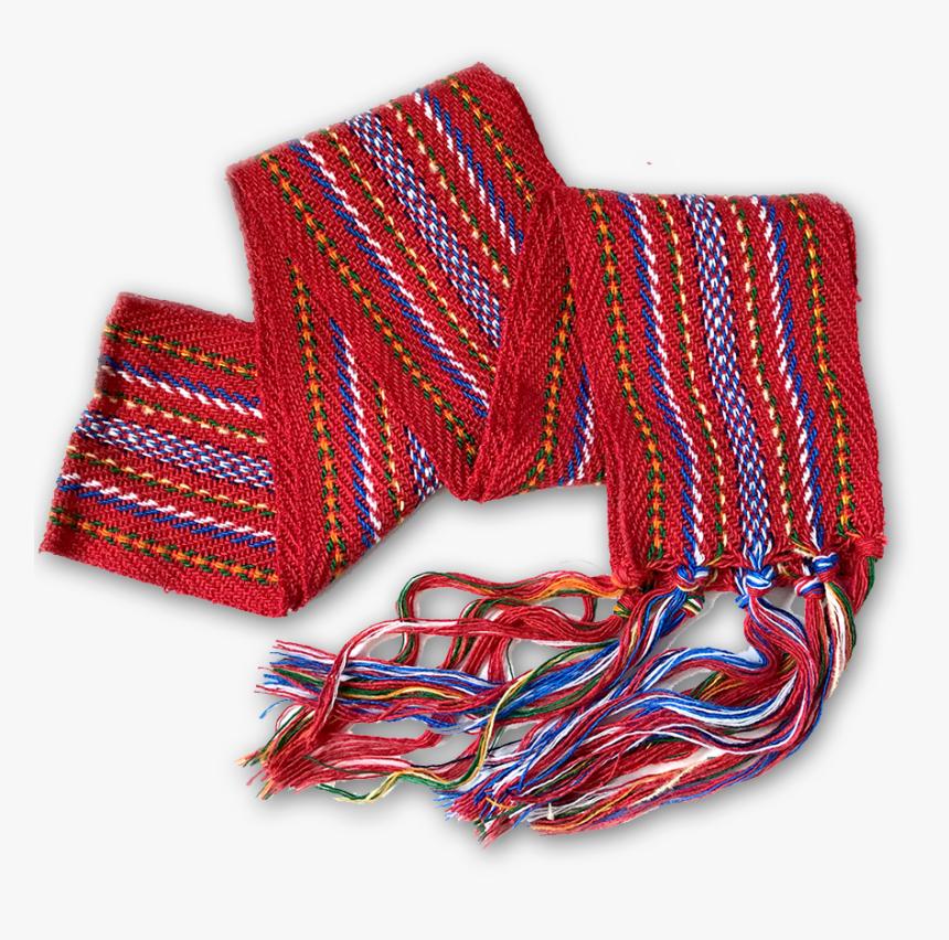 Loom-woven Red Sash - Metis Sash, HD Png Download, Free Download