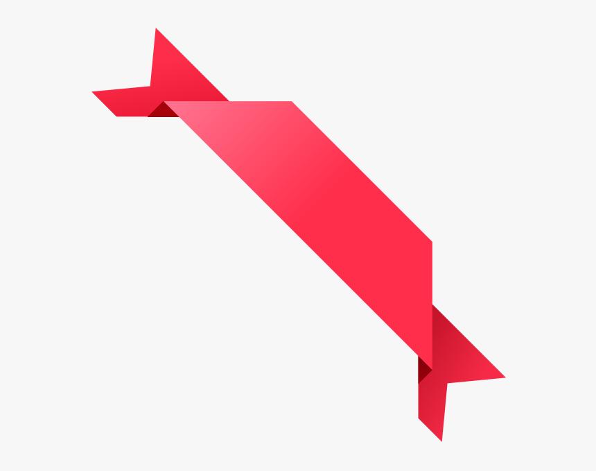 Corner Ribbon03 Pink Vector Data Svg Public Domain - Corner Vector Design Png, Transparent Png, Free Download