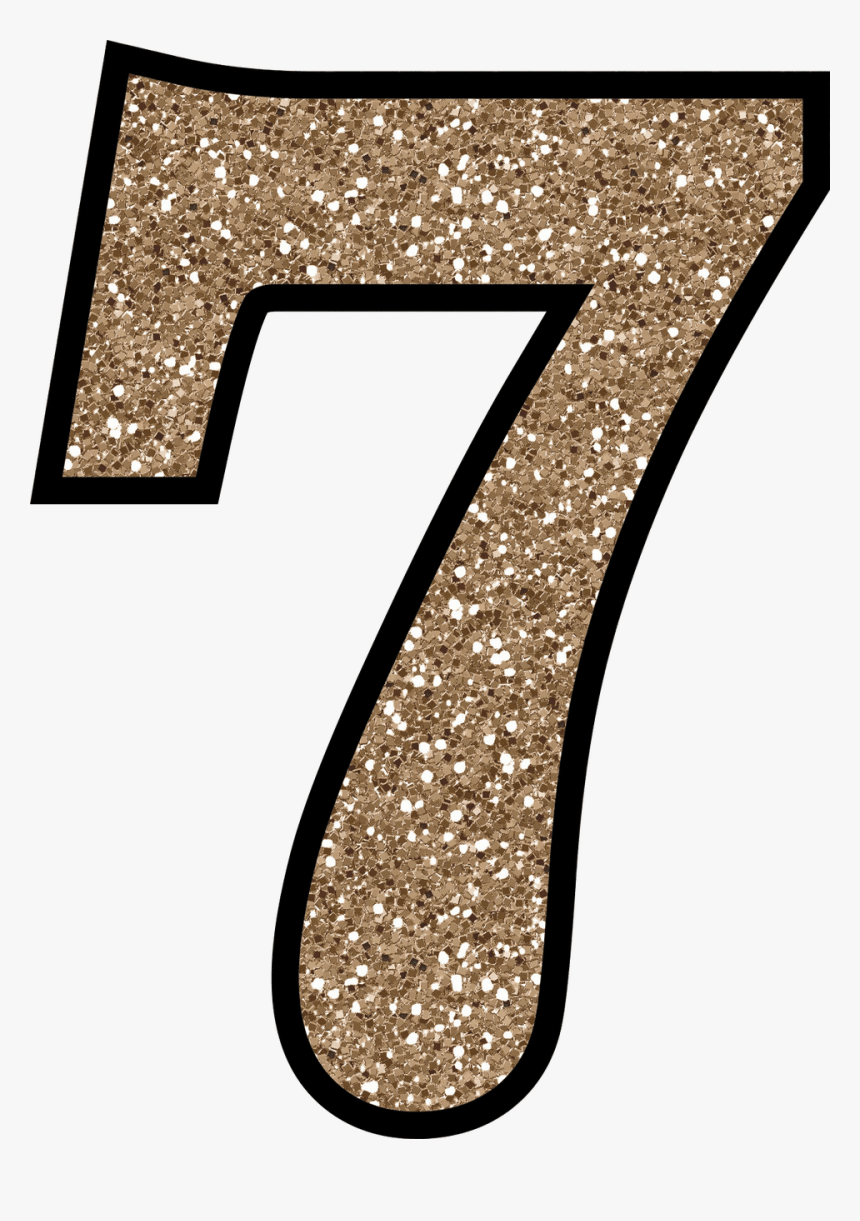 Number 1 Clipart Glitter - Glitter Number 7, HD Png Download, Free Download