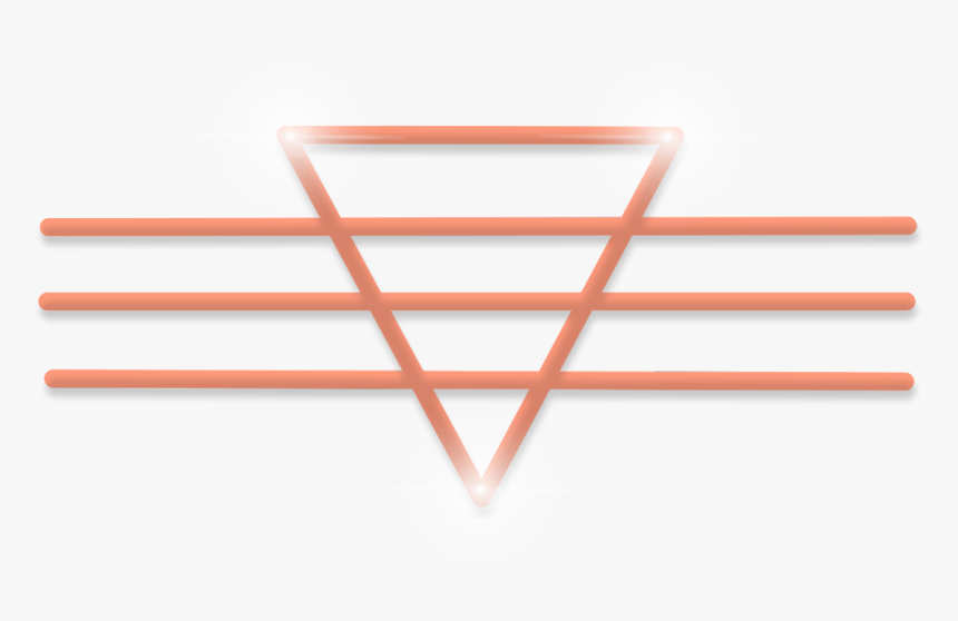 #freetoedit #neon #triangle #orange #glow #frame #border - Picsart Photo Studio, HD Png Download, Free Download