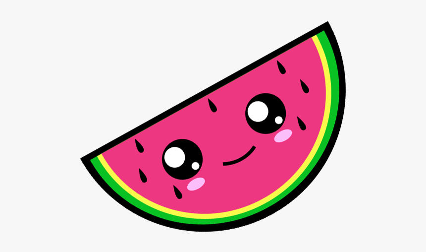 Slice Clipart Kawaii Watermelon With Cute Face Hd Png Download Kindpng