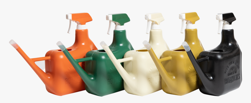 Row Of Spray Sprinkler Watering Cans, One Of Each - Glass Bottle, HD Png Download, Free Download