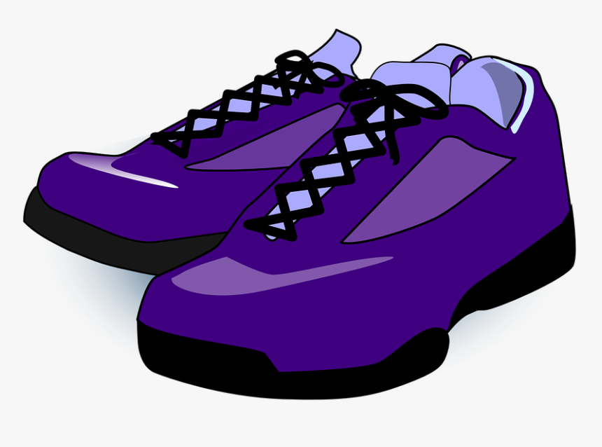 Shoes, Sneakers, Trainers, Purple, Tennis, Sport - Shoes Clip Art, HD Png Download, Free Download