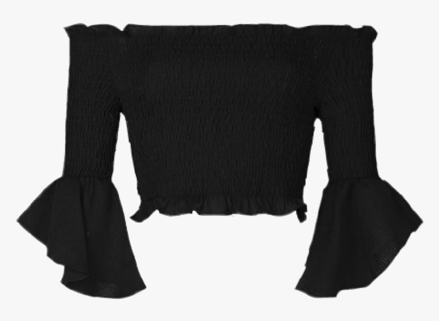 #offshoulder #black #fashion #png #shirt #moodboard - Wool, Transparent Png, Free Download