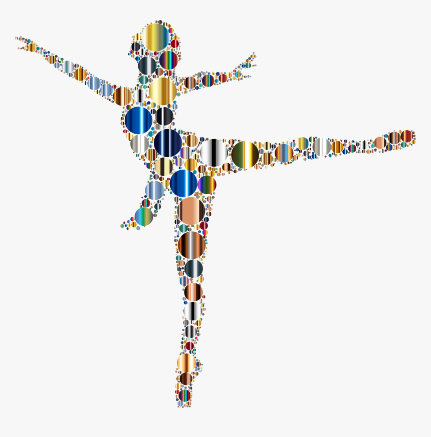 Colorful Ballet Dancer Circles 4 Clip Arts, HD Png Download, Free Download