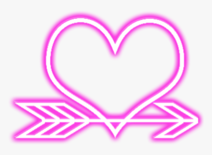 #love #heart #arrow #neon #geometric #overlay #layers - Heart, HD Png Download, Free Download