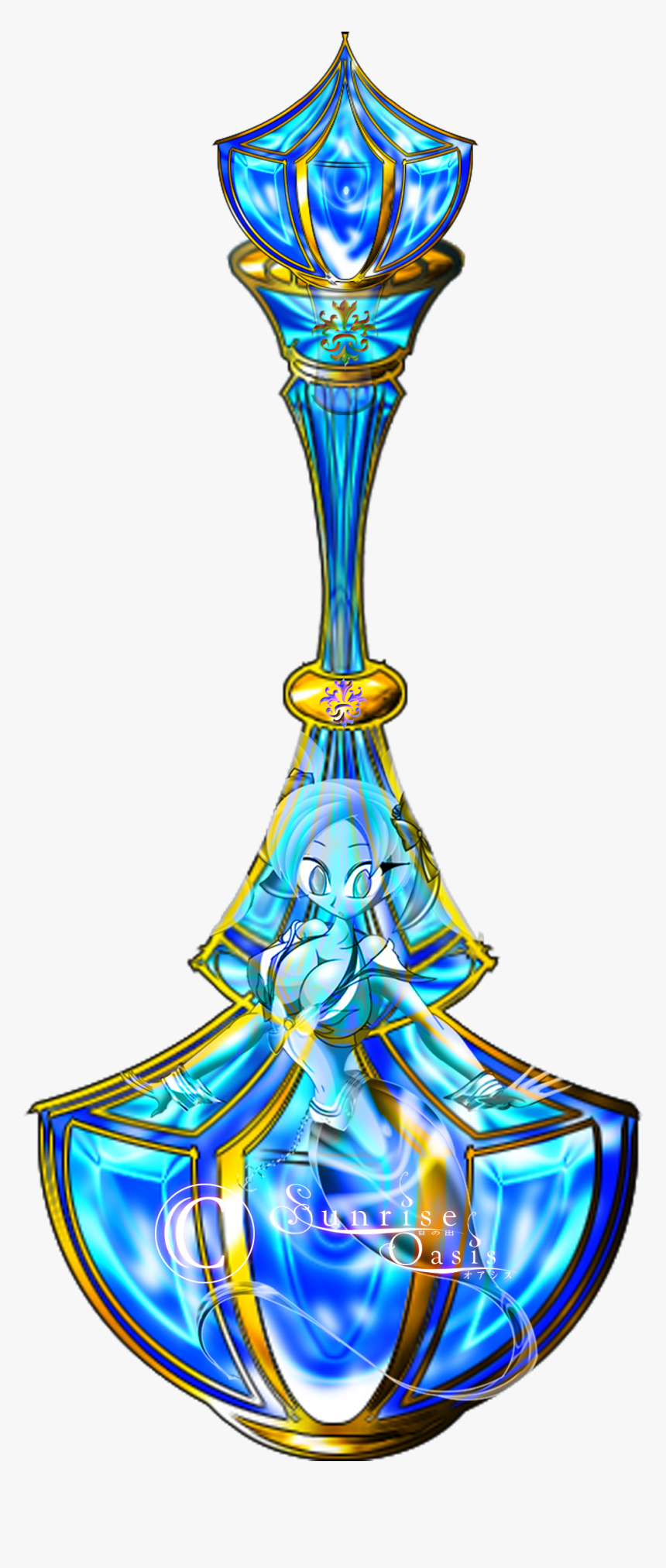 Genie Kasumi In A Lure Bottle By Sunrise On - Genie Bottle Drawing, HD Png Download, Free Download