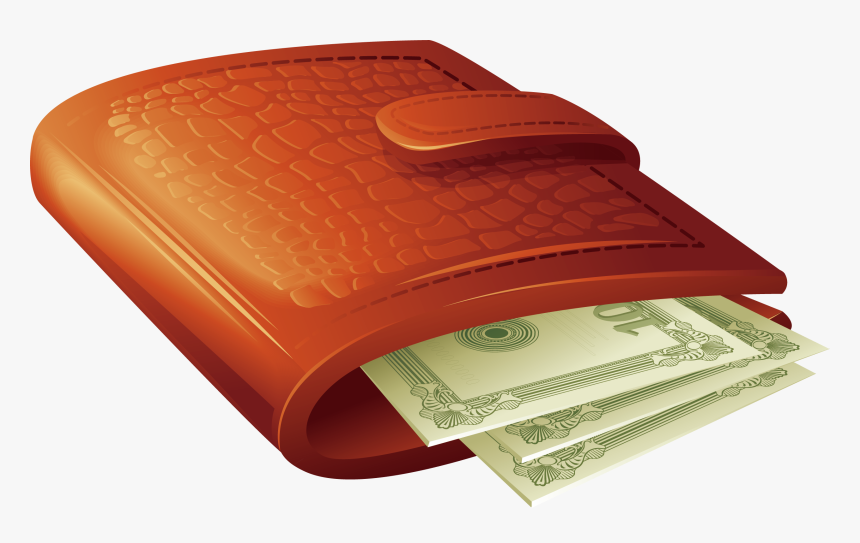 Cartoon Wallet Png - Cartoon Wallet With Money, Transparent Png, Free Download