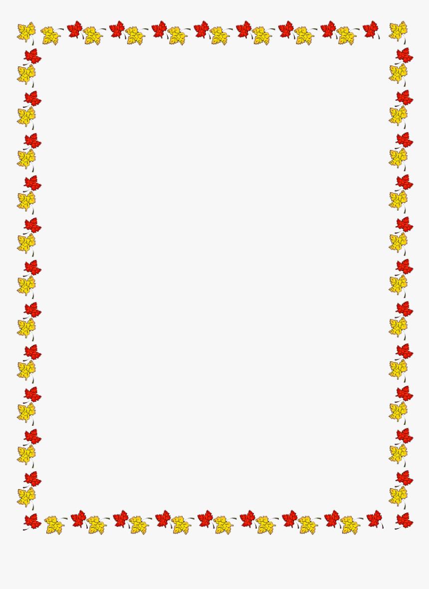Autumn Border Frames Png Free Background - Transparent Autumn Page Border, Png Download, Free Download