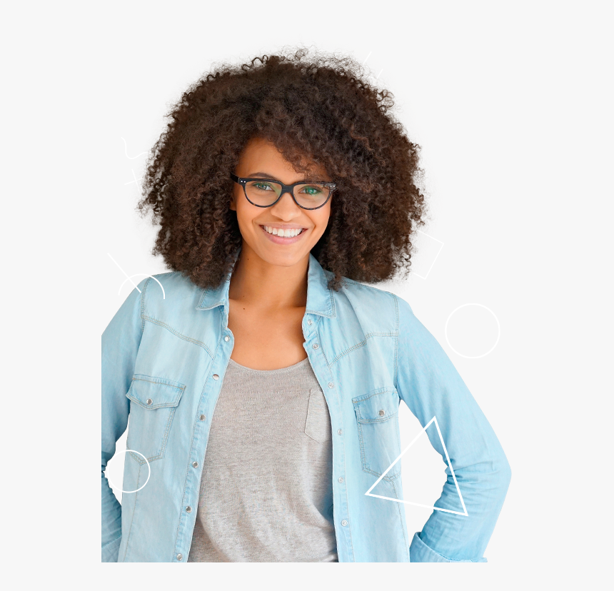 Afro - Girl, HD Png Download, Free Download