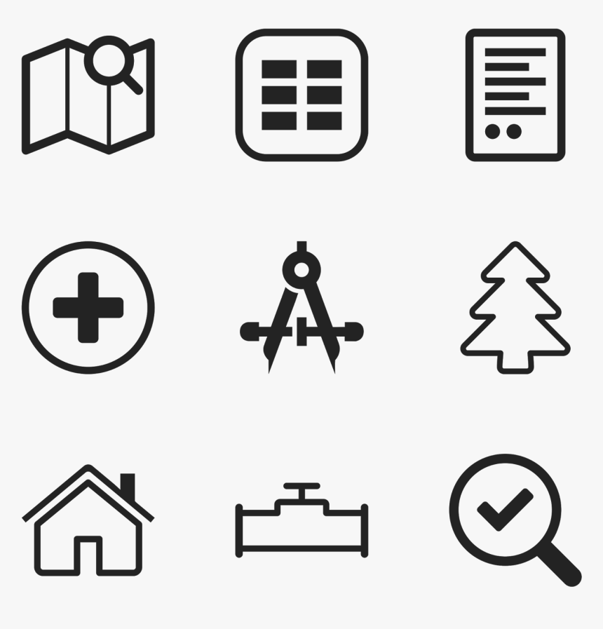 "Icons, But Font Awesome And Bootstrap Weren""t Broad - Paint Brush Icon Line, HD Png Download, Free Download"
