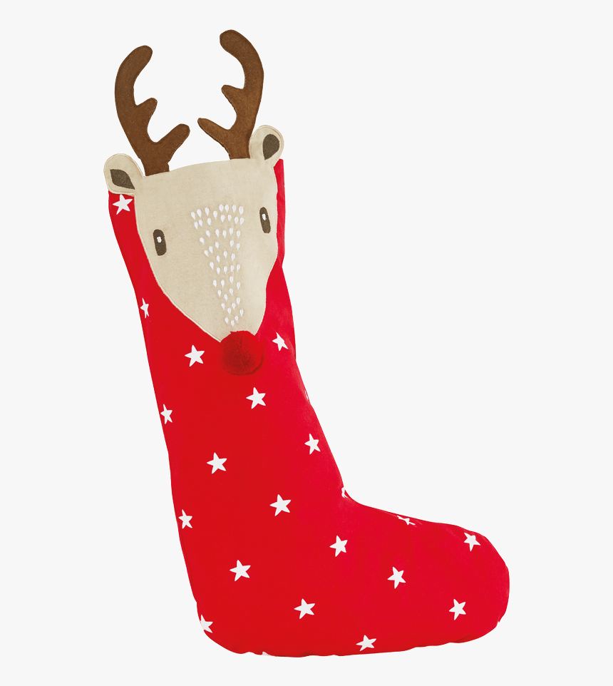 Christmas Stocking, Reindeer - Christmas Stocking, HD Png Download, Free Download
