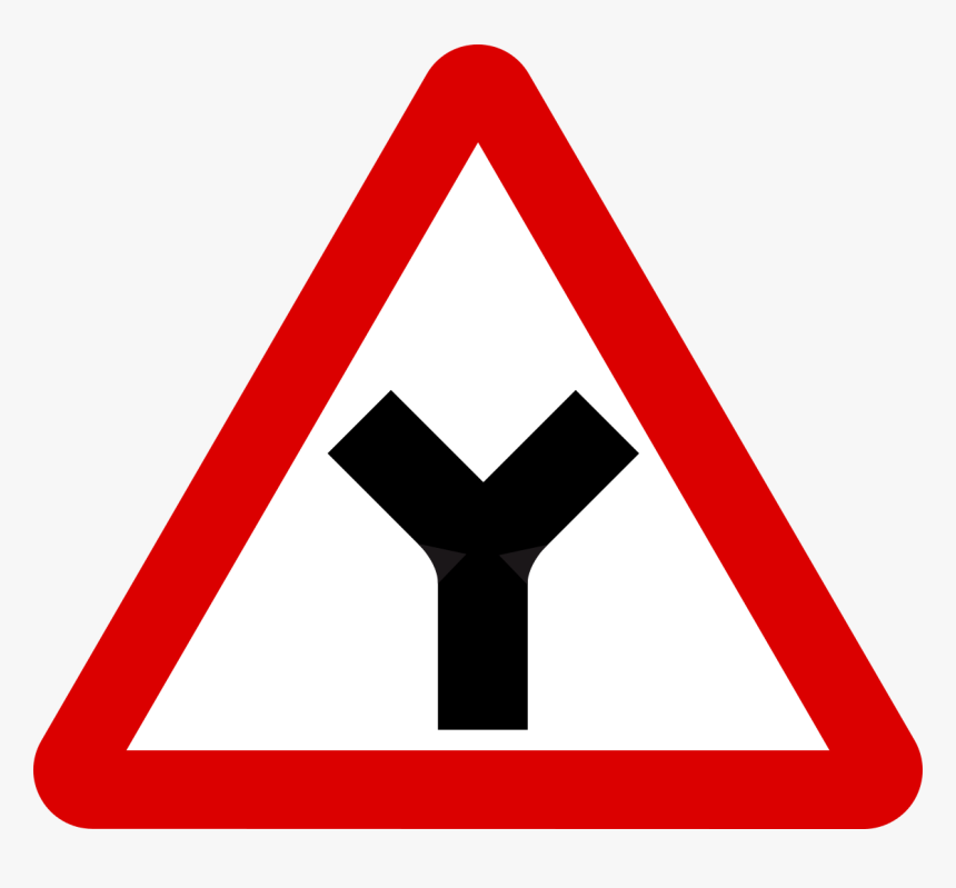 Blank Road Sign Png - Dangerous Bend Road Sign, Transparent Png, Free Download
