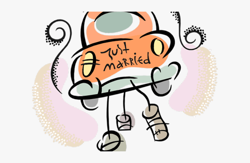 Twins Clipart Word - Just Married Clipart Transparent, HD Png Download, Free Download