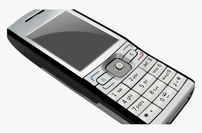 Cell Phone 900 Mobile Phone Clipart Black And White Hd Png Download Kindpng