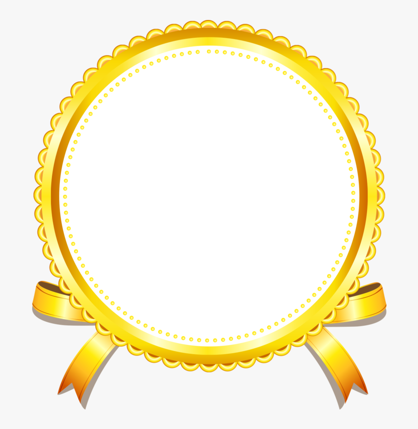 Picture Gold Golden Frame Yellow Border - Gold Photo Frame In Png, Transparent Png, Free Download