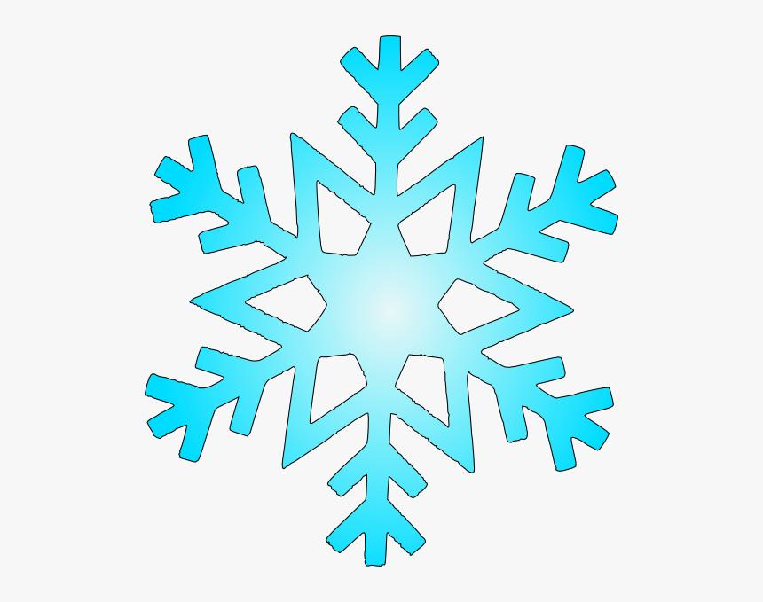 Blue Snow Flake Svg Clip Arts - Bluesnow Flake Clip Art, HD Png Download, Free Download