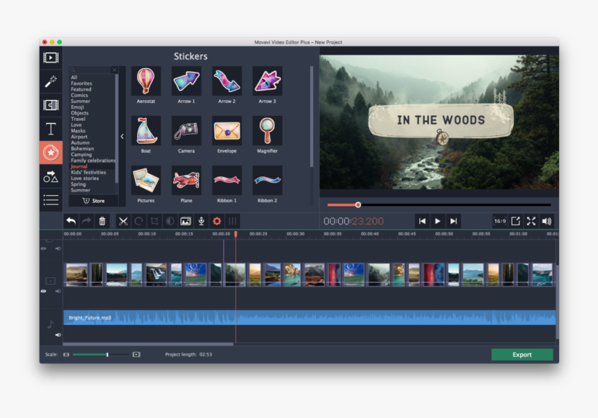 Movavi Video Editor - Program For Youtube Videos, HD Png Download, Free Download