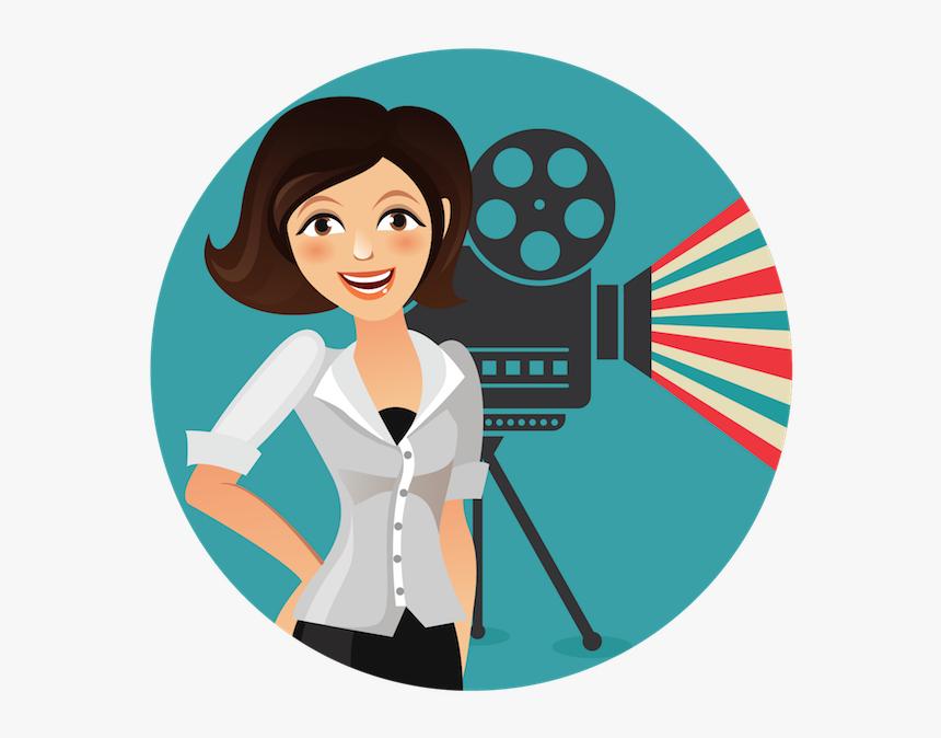 Camera De Cinema Anos 80 Desenho, HD Png Download, Free Download