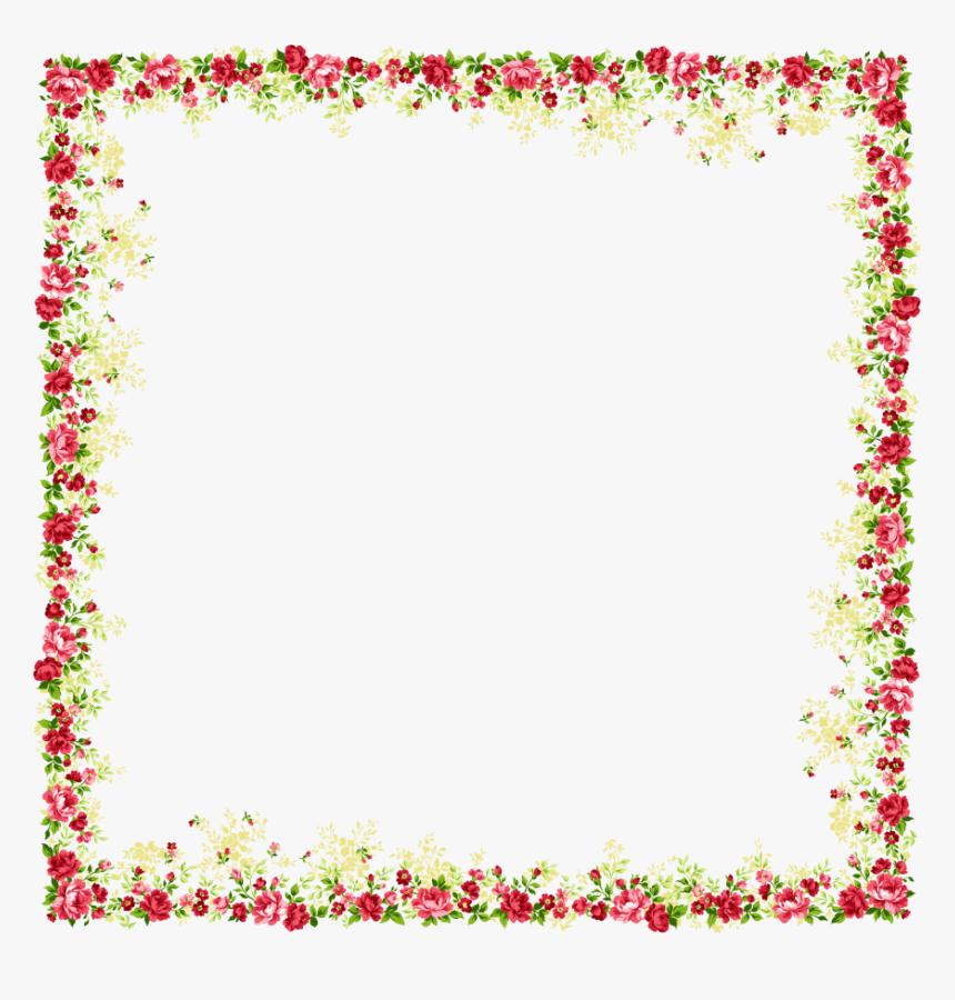 Molduras Para Fotos Flores - Flower Border Design Png, Transparent Png, Free Download
