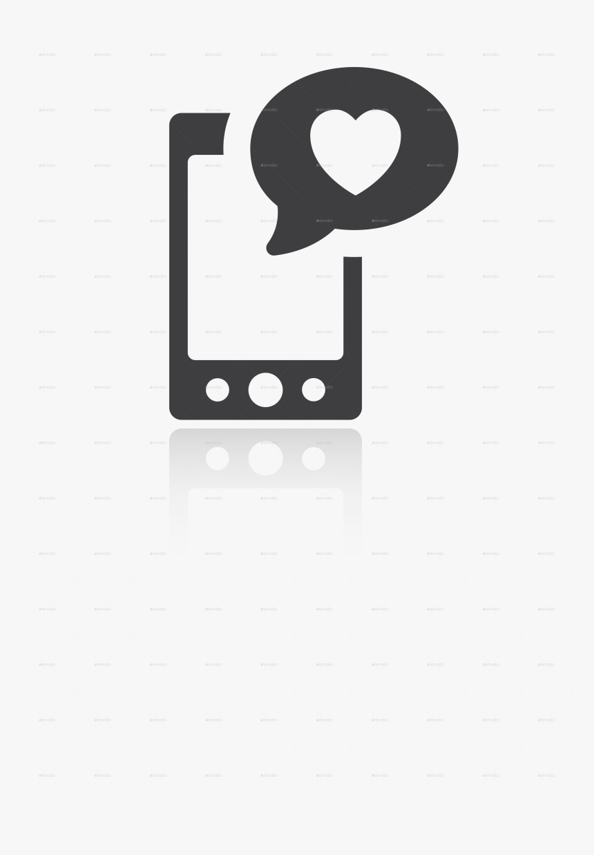 Png/iconset Social Media 01 Smartphone Heart - Smart Phone Social Media Icon Png, Transparent Png, Free Download