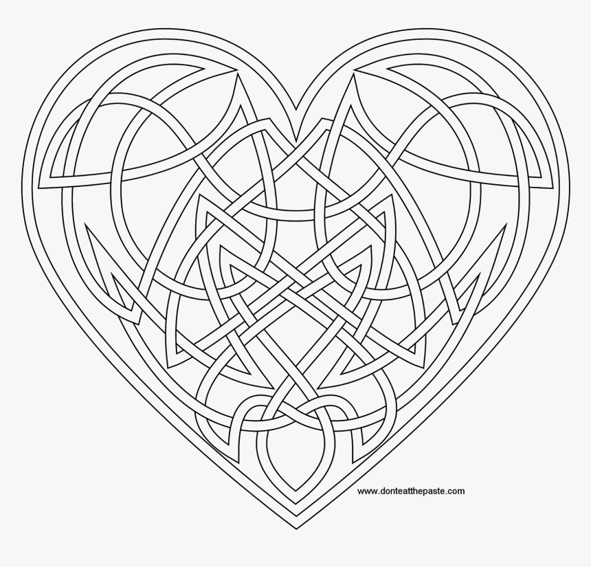 Knotwork Heart Coloring Page Also Available As A Transparent ...