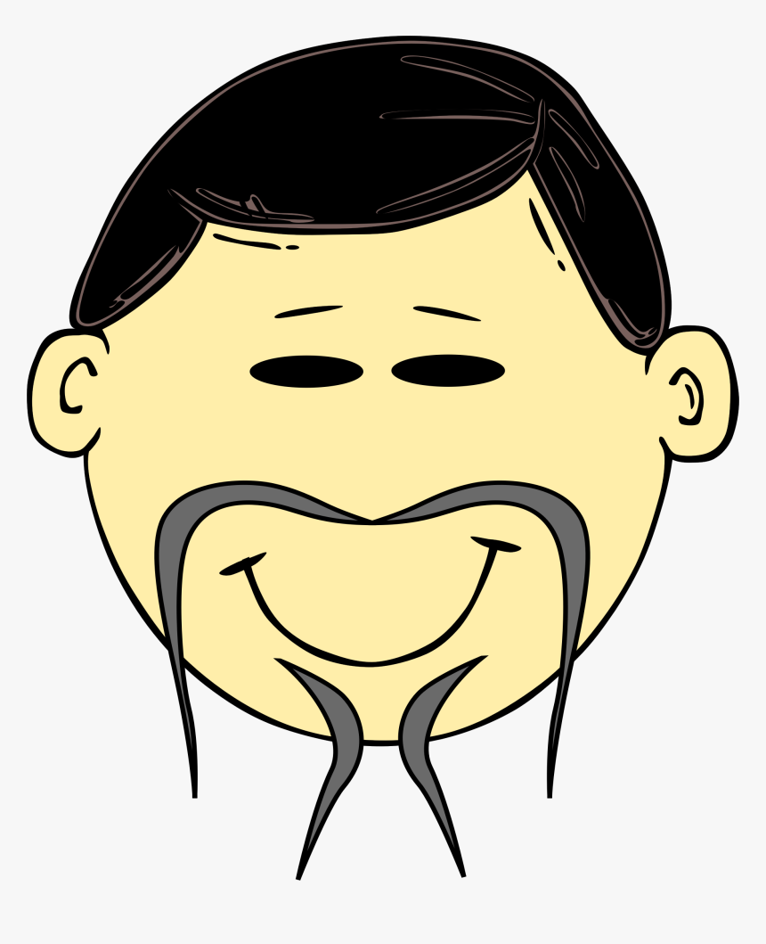 Cosas Para Photoscape - Chinese Man Cartoon Face, HD Png Download, Free Download