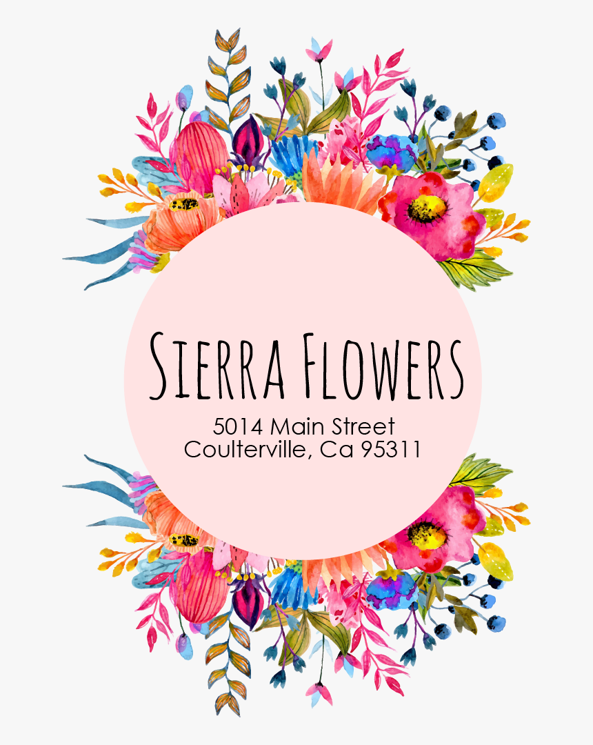 Coulterville, Ca Florist - Well Flower Logo, HD Png Download, Free Download