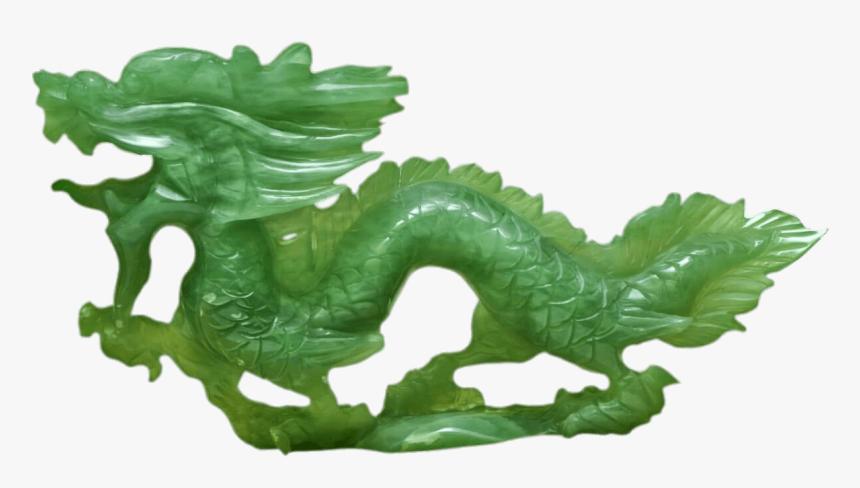 Dragon,green,aquarium Decor,animal Figure,jade,leaf,green - Dragon En Jade, HD Png Download, Free Download
