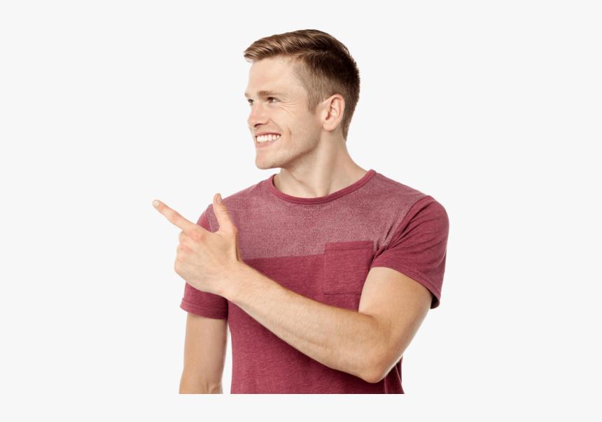 Men Pointing Left - Man Pointing Finger Transparent, HD Png Download, Free Download
