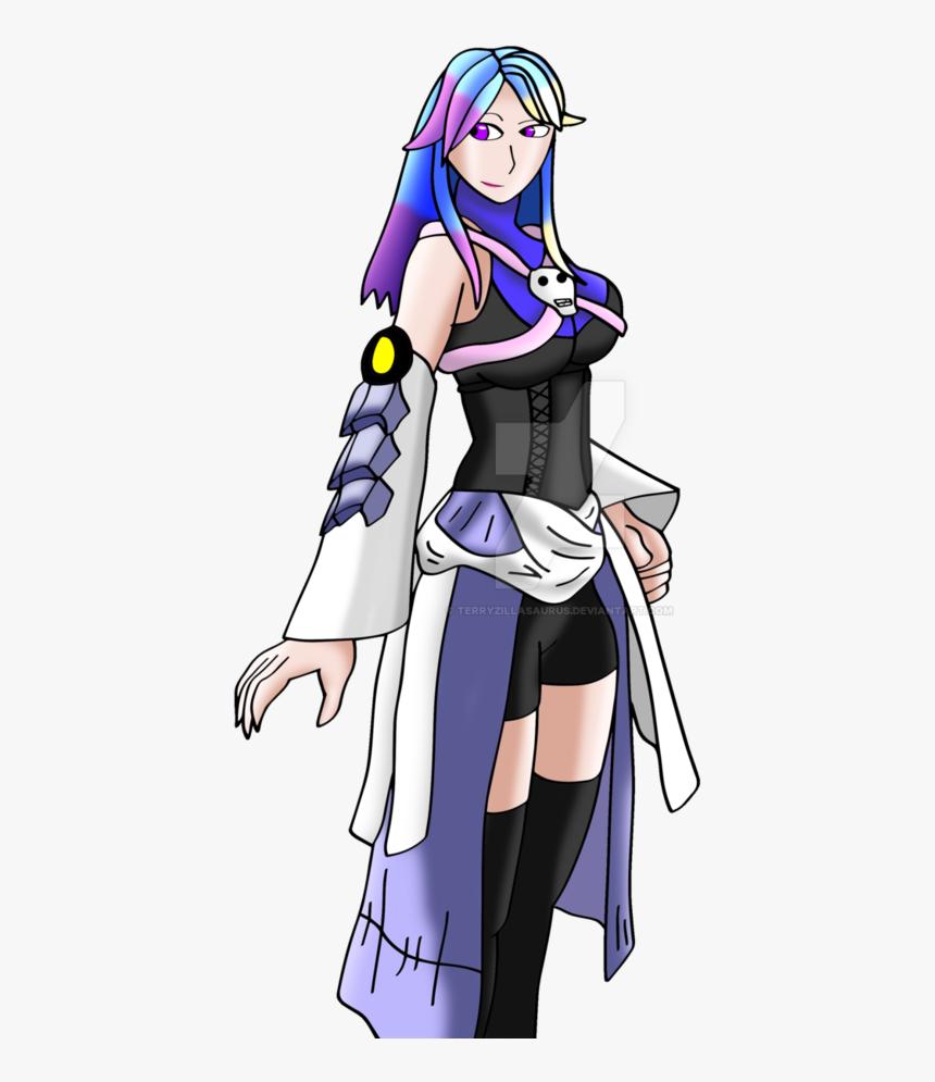 Cartoon,anime,long Hair,black Hair,illustration,hime - Kingdom Hearts Aqua Thicc, HD Png Download, Free Download