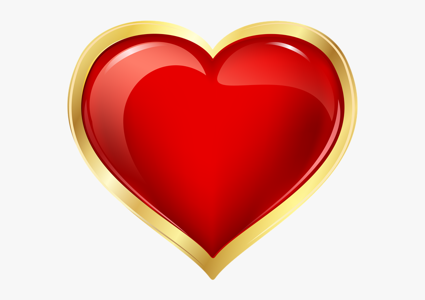 Heart Png - Red And Gold Heart Clipart, Transparent Png, Free Download