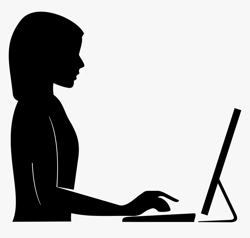 Female Silhouette Computer Icons Clip Art Woman Computer Silhouette Hd Png Download Kindpng