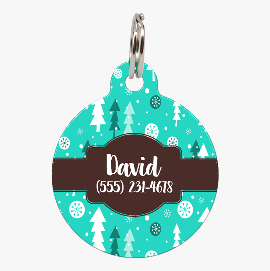 """Christmas Trees Personalized Dog Id Tag For Pets""""  - Illustration, HD Png Download, Free Download"""