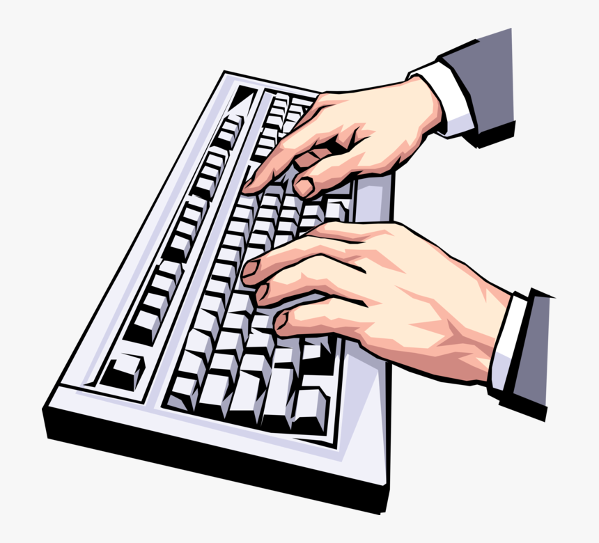 Transparent Keyboard Clipart - Typing On Keyboard Png, Png Download, Free Download