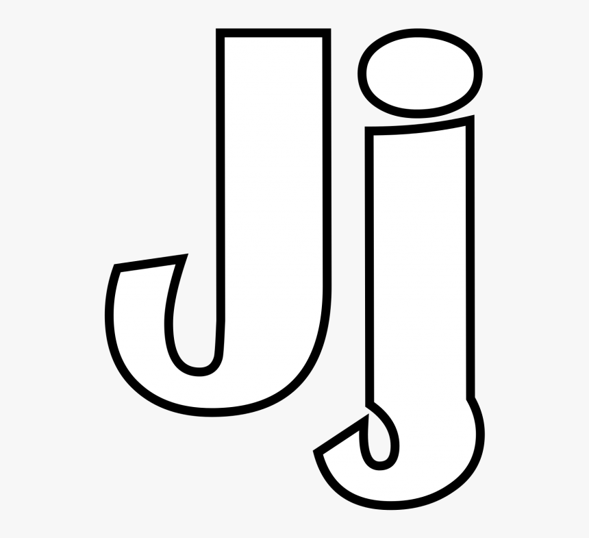 Letter J Clip Art Black And White - Letter J Capital And Small Coloring, HD Png Download, Free Download