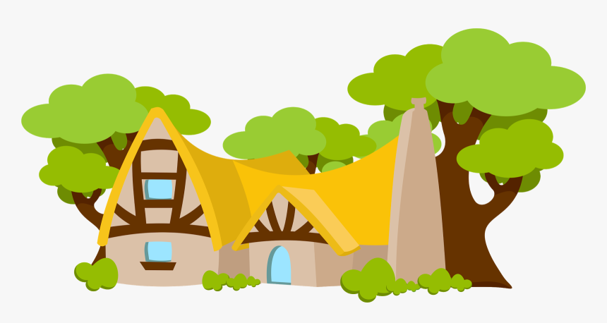 Snow White Baby Clip Art - Snow White House Cartoon, HD Png Download, Free Download