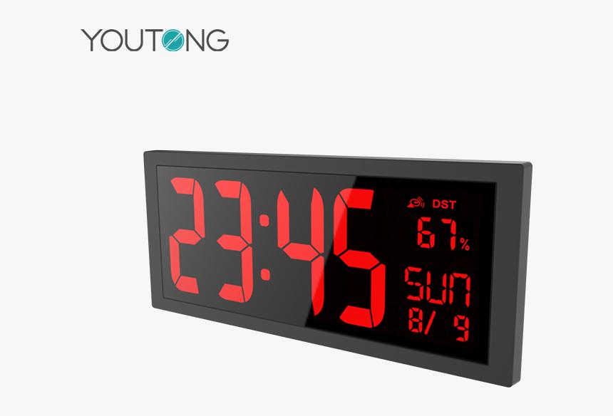 China Industrial Alarm Clock, China Industrial Alarm - Reloj Digital Numeros Rojos De Pared, HD Png Download, Free Download