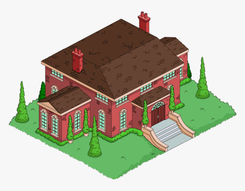 Cartoon Mansion Png - Mansao Wolfcastle Springfield Tapped Out, Transparent Png, Free Download
