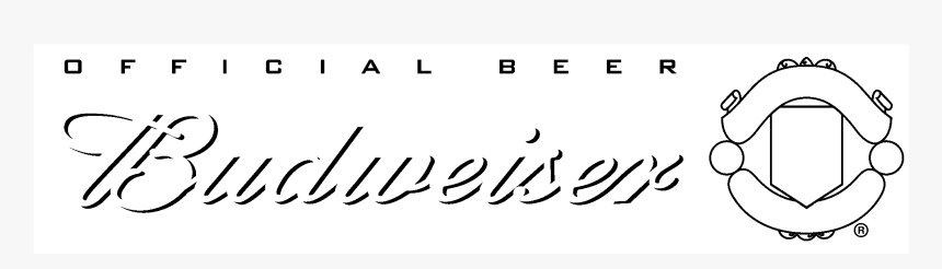 Budweiser Manchester United Logo Black And White - Calligraphy, HD Png Download, Free Download